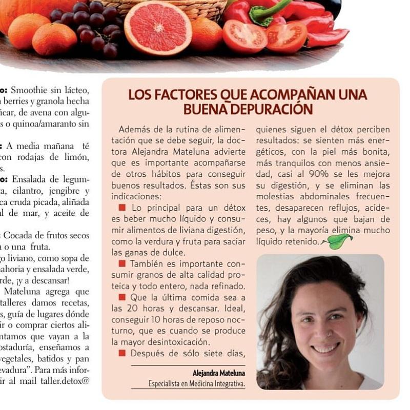 Categoría Taller Detox: La Dra. Alejandra Mateluna Habla De Detox